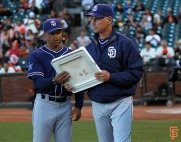 San Francisco Giants, S.F. Giants, photo, 2014, Tony Gwynn, Dave Roberts, Bud Black